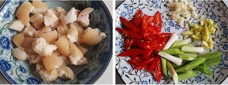香辣猪皮的做法步骤1-2