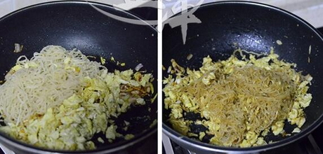 粉条炒鸡蛋的做法步骤15-16