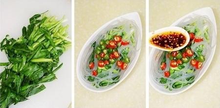 粉条拌韭菜步骤7-9