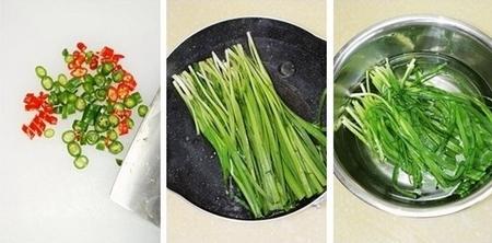 粉条拌韭菜步骤4-6